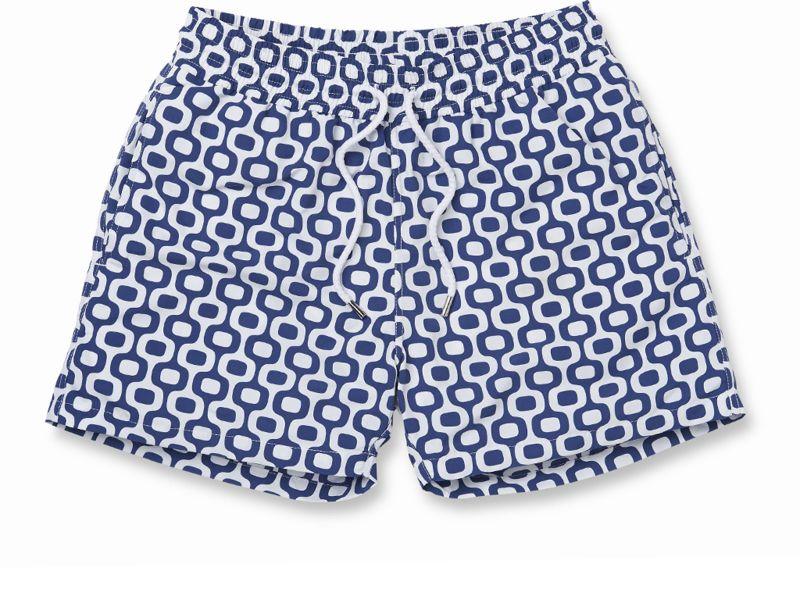 Пляжные шорты в белом и темно-синем цвете - IPANEMA SPORT NAVY BLUE
