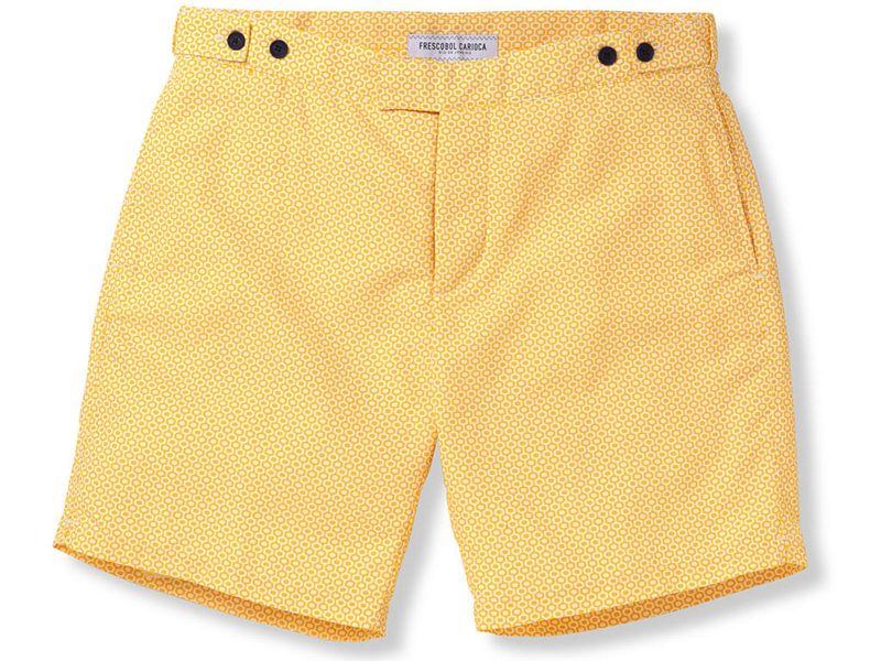 Yellow beach shorts with yellow / orange graphic print - IPANEMA TAILORED LONG SUNFLOWER