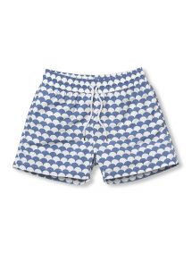 White & washed blue beach shorts - NORONHA SPORT SLATE BLUE
