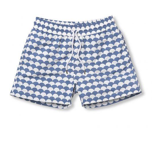 Pantaloncini da spiaggia bianchi e blu effetto lavato - NORONHA SPORT SLATE BLUE