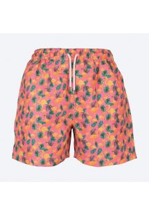 Deep pink swimming shorts with flamingo motifs - FLAMINGOS ROSA