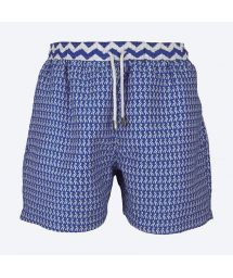 Blue bathing shorts with graphic print - FORMAS MIDNIGHT BLUE