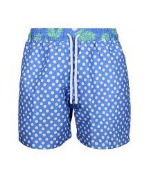 Мужские плавательные шорты в комбинированный синий принт - SWIM SHORT DOTS CLASSIC