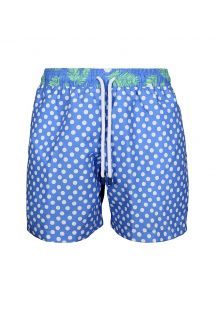 Man swim shorts in blue mixed print - SWIM SHORT DOTS CLASSIC