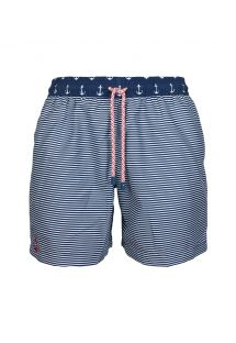 Szorty kąpileowe w marynarskie pasy - SWIM SHORTS ANCHOR CLASSIC