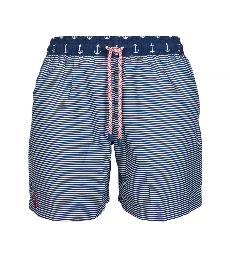 Swimming shorts in marine stripes - SWIM SHORTS ANCHOR CLASSIC