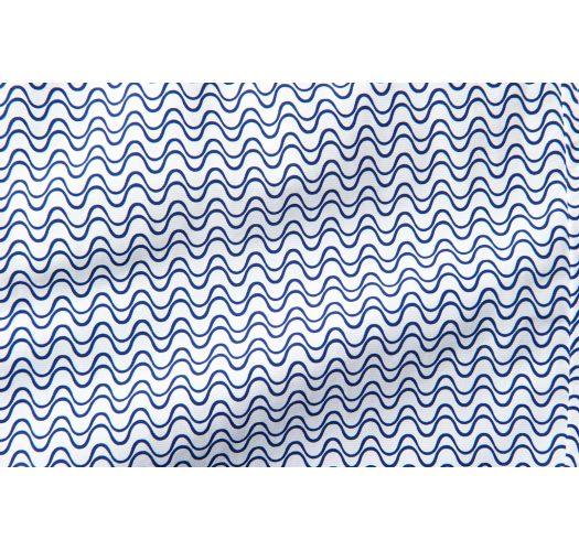 Pantaloncini da spiaggia stampa geometrica blu scuro / bianco - WAVE TAILORED LONG NAVY BLUE