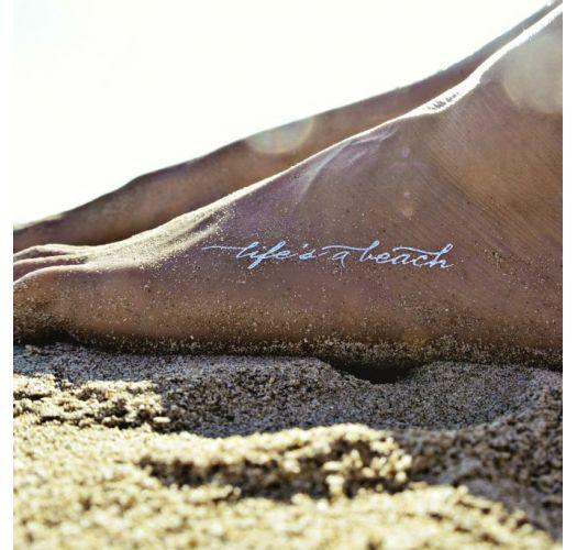 Златни и сребърни временни татуировки, плажен мотив - Gold Fish 5011