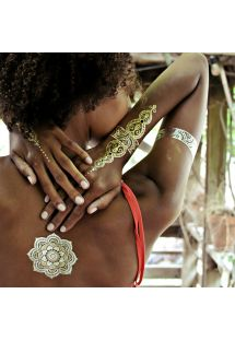 Tatouages éphémères dorés au henné - SHEEBANI