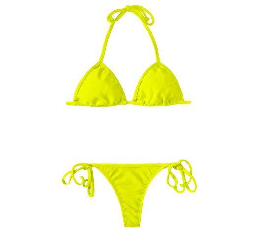Sliding triangle lemon-lime thong bikini - ACID CORT MICRO