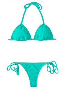 Bikini string bleu turquoise, triangle coulissant - MARE CORT MICRO