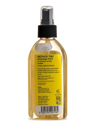 Citron doftande Monoi, myggmedel - Tiki Monoi ANTIMOUSTIQUE 120 ml