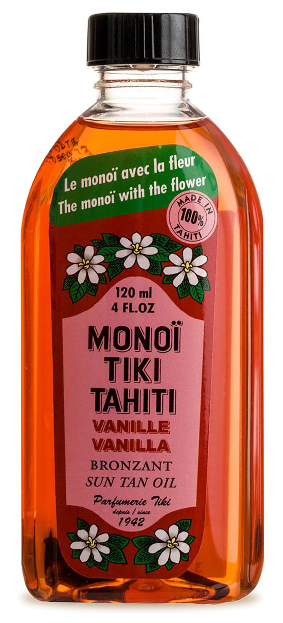 Vanilj doftande Monoï, solskydd SPF3 - TIKI Monoi Vanille SPF3 120ml