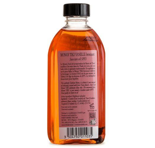 Vanilla scented Monoi, sun protection SPF3 - TIKI Monoi Vanille SPF3 120ml