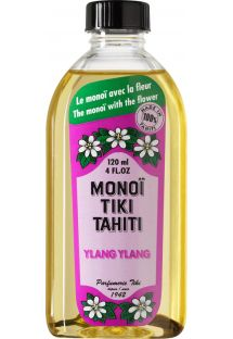 Ylang-ylang scented Monoï with flower, made in Tahiti - TIKI Monoi Ylang Ylang 120 ml