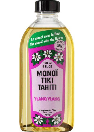 Ylang-ylang scented Monoï with flower, made in Tahiti - TIKI Monoi Ylang Ylang 120 ml