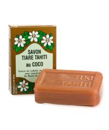 Savon végétal avec 30% de monoï de Tahiti, parfum coco - TIKI SAVON TIARE TAHITI COCO 130g