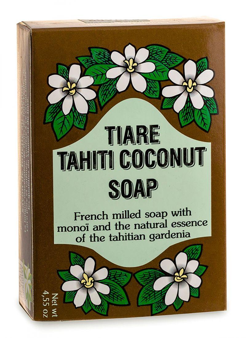 Vegetal-Seife mit 30% Monoi-Öl aus Tahiti, Kokusduft - TIKI SAVON TIARE TAHITI COCO 130g