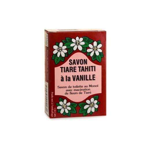 Mydło warzywne o zapachu wanilii z olejkiem kokosowym i olejkiem Monoi - TIKI SAVON TIARE TAHITI VANILLE 130g