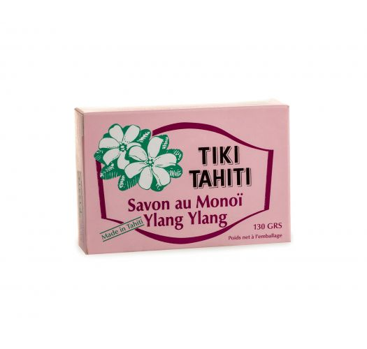 Ylang-ylang scented vegetable soap with monoi and coconut oil - TIKI SAVON YLANG YLANG 130g