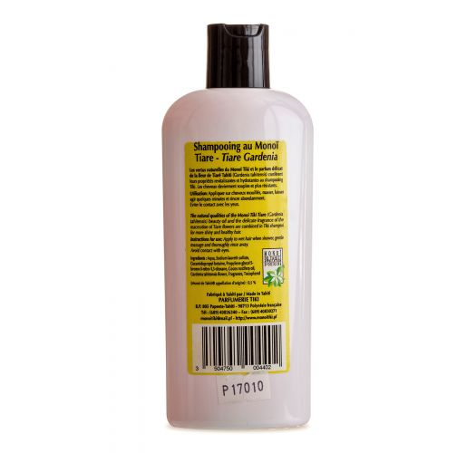 Šampon z vonjem tahitijskih gardenij, obogaten z Monoi oljem, brez parabenov - TIKI SHAMPOING MONOI TIARE 250ml