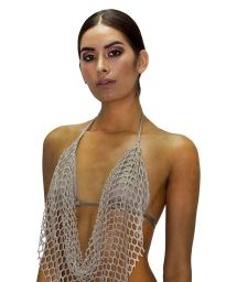 Luxurious beige triangle top with openwork - TOP RED SEDUCCION