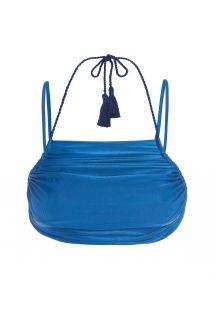 Купальный кроп-топ синего цвета с кисточками - SOUTIEN RIO AZUL