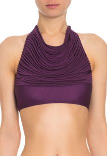 Iridescent purple swimsuit crop top with multi-straps - SOUTIEN TUCANO ROXO