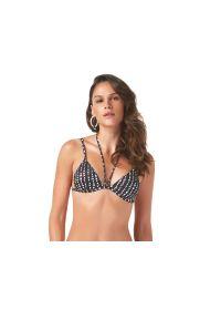 Black & white strappy triangle bikini top - TOP FRESH POA