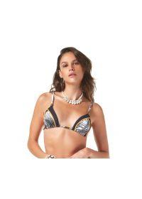 Tricolor sporty triangle bikini top - TOP MAMBO