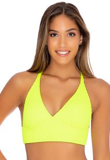 TOP BANDED NEON YELLOW PURA CURIOSIDAD
