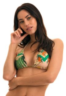 BBS X RIO DE SOL - Printed triangle top wavy edges - TOP ALPINIA FRUFRU