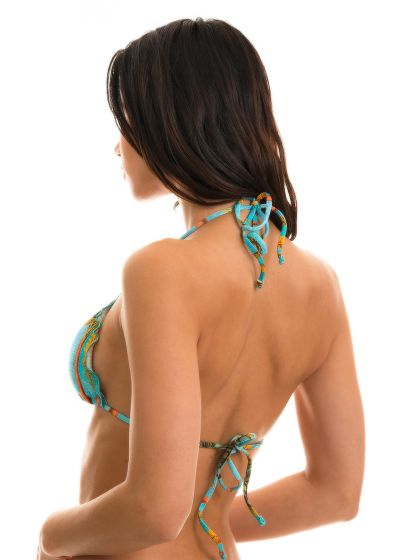 BBS X RIO DE SOL - Tropical triangle top wavy edges - TOP POR DO SOL FRUFRU