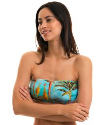 BBS X RIO DE SOL - Tropical bandeau top - TOP POR DO SOL RETO
