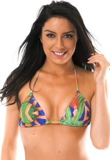 Sliding triangle top, brightly coloured print - SOUTIEN EXUBERANTE LACINHO
