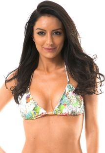 Trekants- bikini med tropiskt tryck och vågiga kanter - SOUTIEN GARDEN PINUP