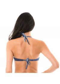 Underwired denim print bandeau bikini top - SOUTIEN JEANS TACA