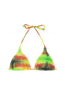 Tie'n'dye triangle bikini top - SOUTIEN LIGHT LARANJA