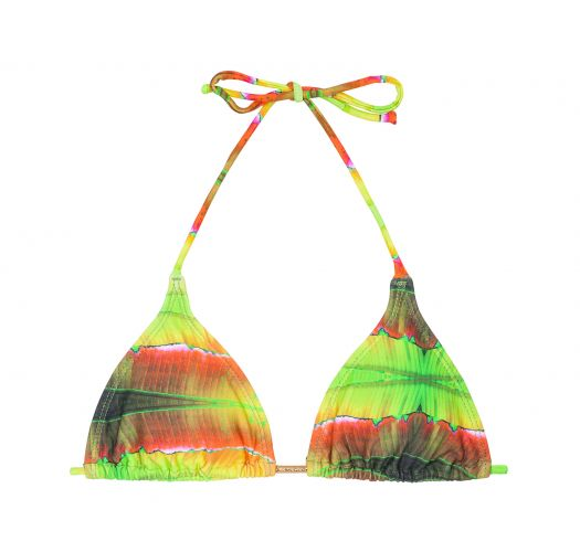 Tie&#39n&#39dye triangle bikini top - SOUTIEN LIGHT LARANJA