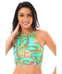 High-neck tropical swimsuit crop top - SOUTIEN MUSA ALTO REMO