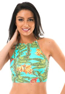 Top curto tropical, decote alto - SOUTIEN MUSA ALTO REMO