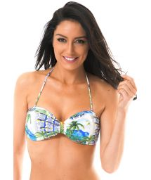 Bandeau top with print and soft padding - SOUTIEN PARATY BEBEL