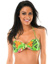 Tropical print bandeau top with soft padding - SOUTIEN TAPAJO BAHAMAS