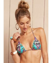 Sliding triangle top with mixed prints - SOUTIEN TOM JOBIM