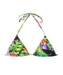 Tropical print sliding triangle top - SOUTIEN TROPICALI TAHITI