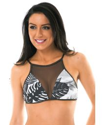 Swimsuit crop top, tropical with transparency - SOUTIEN VISUAL ENERGIA BOX