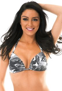 Haut triangle foulard tropical bicolore - SOUTIEN VISUAL LOTUS