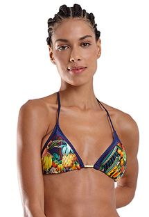 Multicolored tropical sliding triangle top - TOP ICEBERG IQUITOS