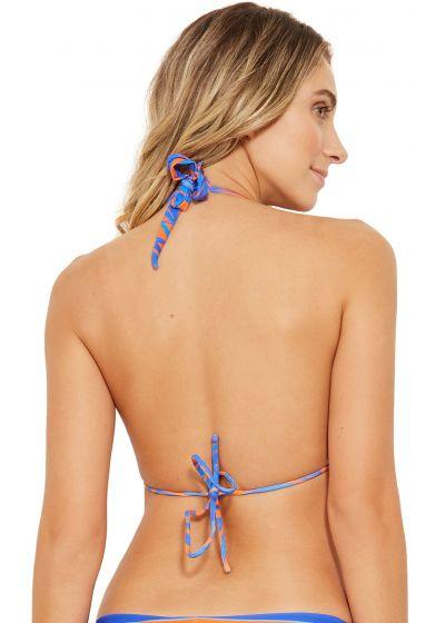 Blue and orange halter bikini top - TOP ACQUA CAYENA