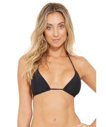 Black sliding triangle bikini top - TOP BOJO PRETO